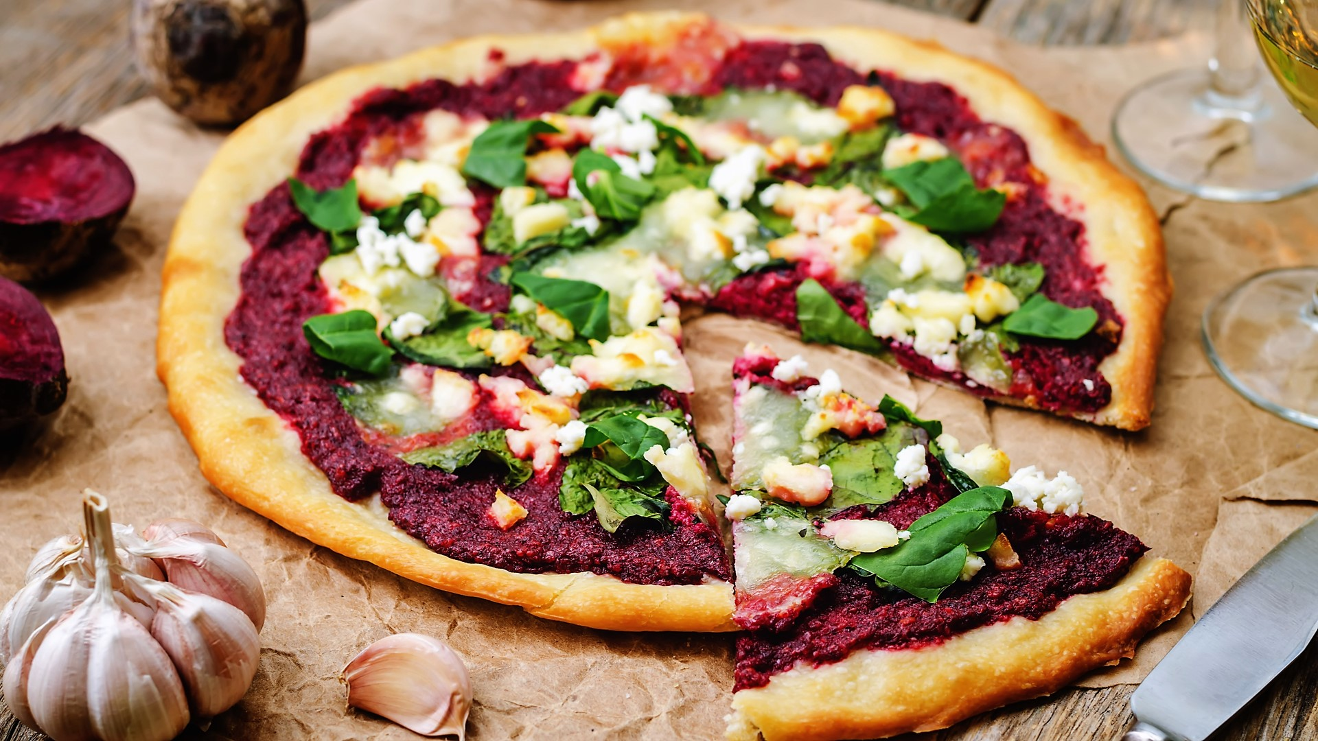 Beet Garlic Pizza
