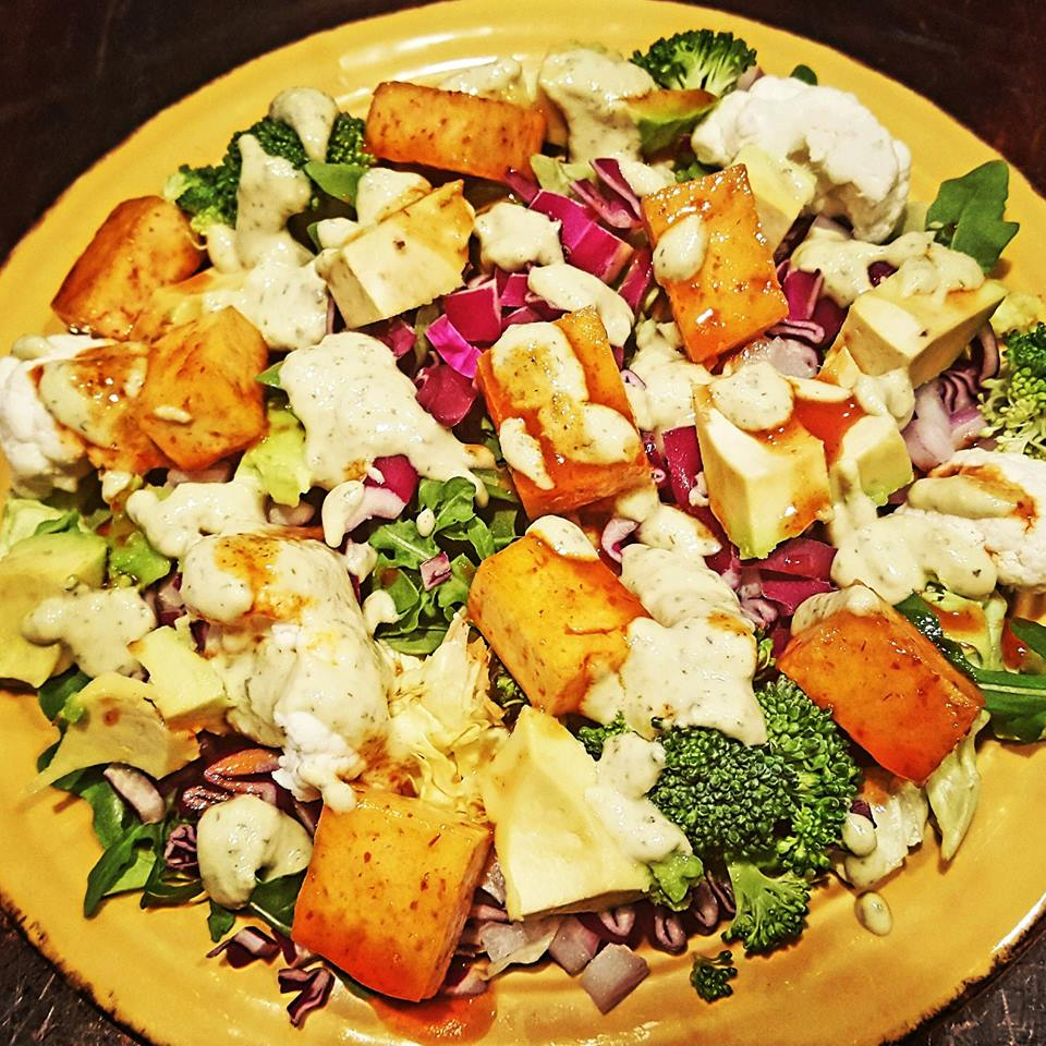 Spicy Buffalo Tofu Salad