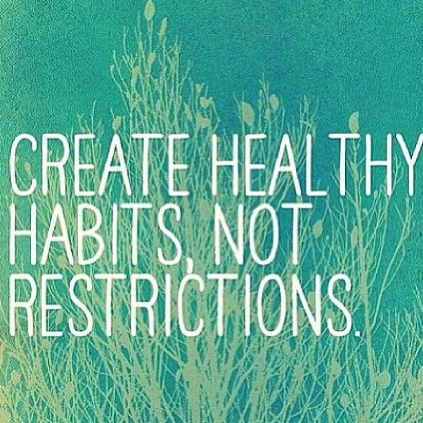 Create Healthy Eating Habits
