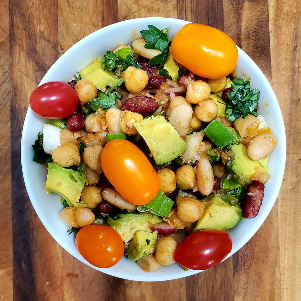 Tripple Bean Salad & Sauce